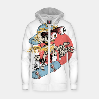 Thumbnail image of Skateboarding Zip up hoodie, Live Heroes