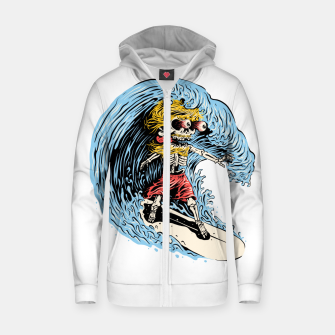 Thumbnail image of Surfboarding Zip up hoodie, Live Heroes