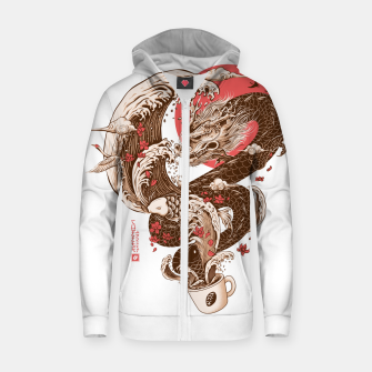 Thumbnail image of Coffee and Inspiration Zip up hoodie, Live Heroes