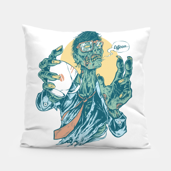No Coffee Me Zombie Pillow Bild der Miniatur