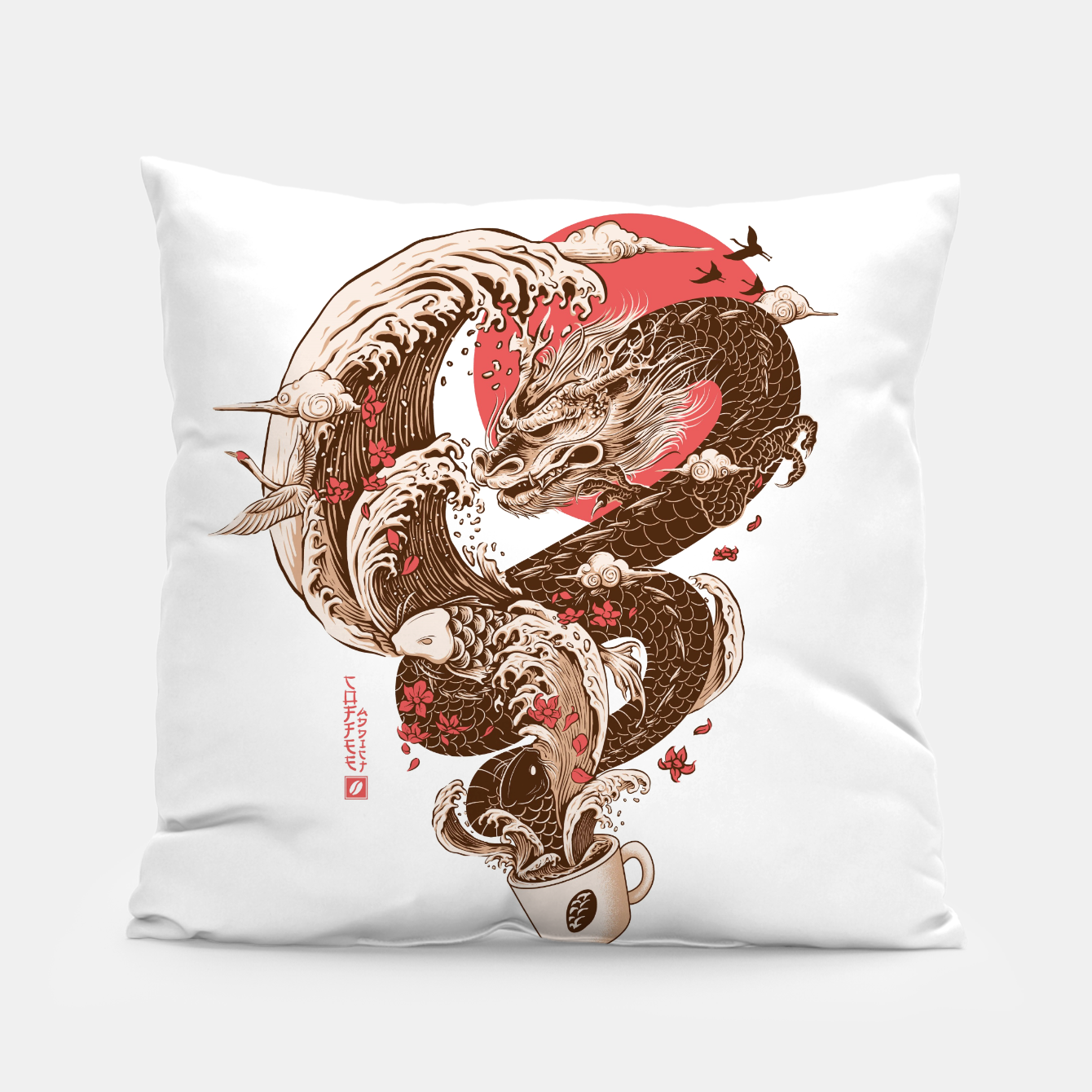 Image de Coffee and Inspiration Pillow - Live Heroes