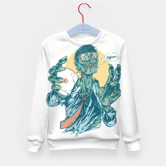 No Coffee Me Zombie Kid's sweater Bild der Miniatur