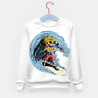 Thumbnail image of Surfboarding Kid's sweater, Live Heroes