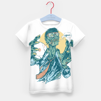 Thumbnail image of No Coffee Me Zombie Kid's t-shirt, Live Heroes