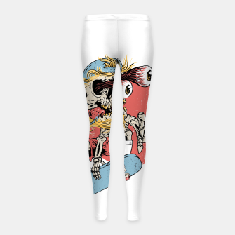 Skateboarding Girl's leggings miniature