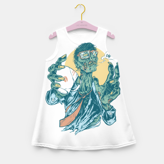 No Coffee Me Zombie Girl's summer dress miniature