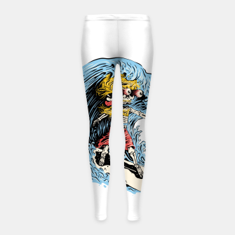 Surfboarding Girl's leggings miniature