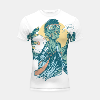 Thumbnail image of No Coffee Me Zombie Shortsleeve rashguard, Live Heroes