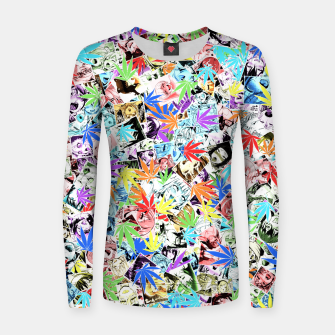 Thumbnail image of Weed Ahegao Women sweater, Live Heroes