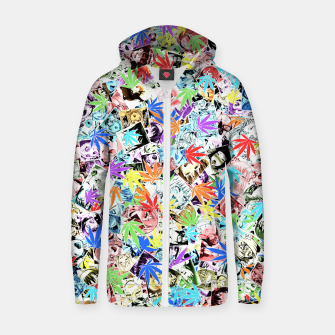 Thumbnail image of Weed Ahegao Zip up hoodie, Live Heroes