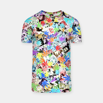 Thumbnail image of Weed Ahegao T-shirt, Live Heroes