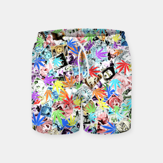 Thumbnail image of Weed Ahegao Swim Shorts, Live Heroes