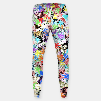Thumbnail image of Weed Ahegao Sweatpants, Live Heroes