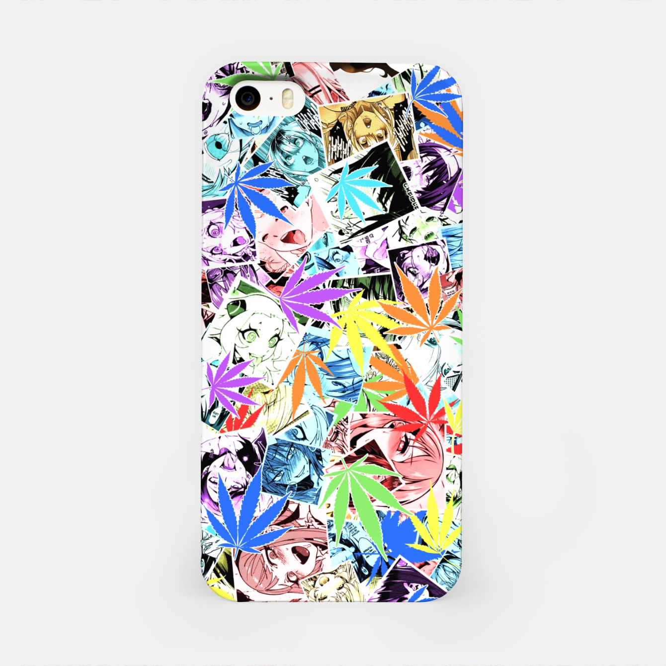 Image of Weed Ahegao iPhone Case - Live Heroes