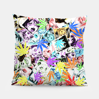 Thumbnail image of Weed Ahegao Pillow, Live Heroes