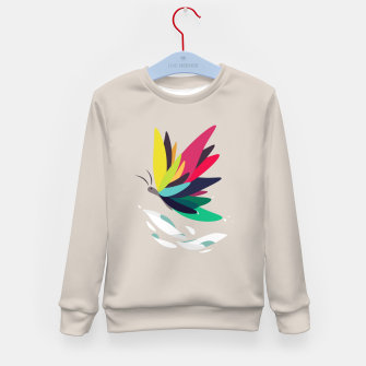 Miniatur Precious secret of the butterfly Kid's sweater, Live Heroes