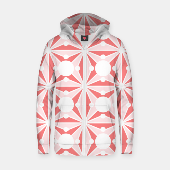 Thumbnail image of Abstract geometric pattern - pink and white. Zip up hoodie, Live Heroes