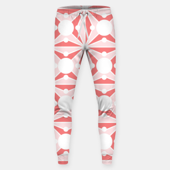 Miniature de image de Abstract geometric pattern - pink and white. Sweatpants, Live Heroes
