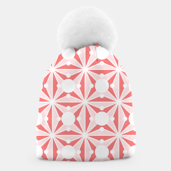 Miniatur Abstract geometric pattern - pink and white. Beanie, Live Heroes