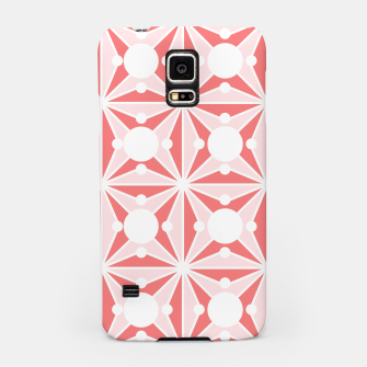 Miniatur Abstract geometric pattern - pink and white. Samsung Case, Live Heroes