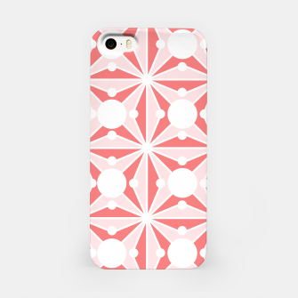 Miniatur Abstract geometric pattern - pink and white. iPhone Case, Live Heroes