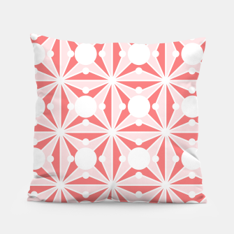 Miniatur Abstract geometric pattern - pink and white. Pillow, Live Heroes