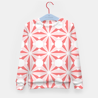 Miniatur Abstract geometric pattern - pink and white. Kid's sweater, Live Heroes