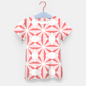 Miniatur Abstract geometric pattern - pink and white. Kid's t-shirt, Live Heroes
