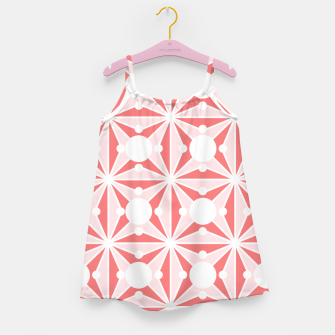 Miniatur Abstract geometric pattern - pink and white. Girl's dress, Live Heroes