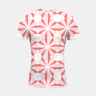 Miniatur Abstract geometric pattern - pink and white. Shortsleeve rashguard, Live Heroes