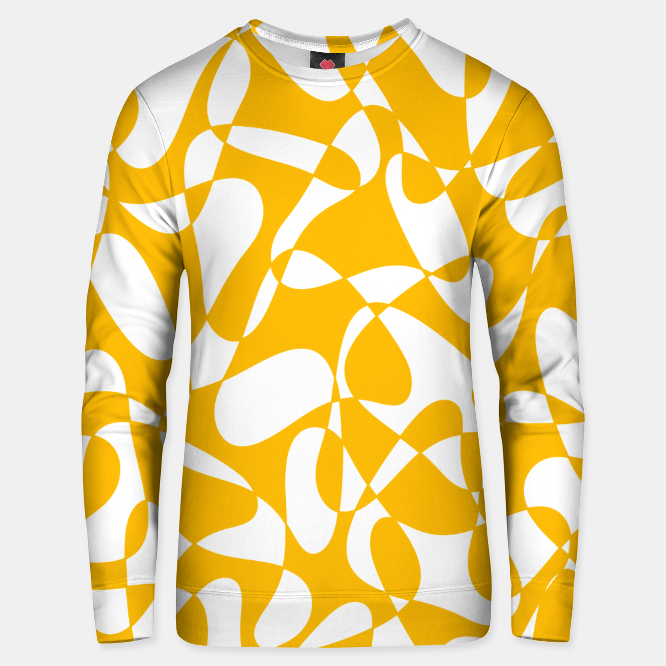 Image of Abstract pattern - orange and white. Unisex sweater - Live Heroes