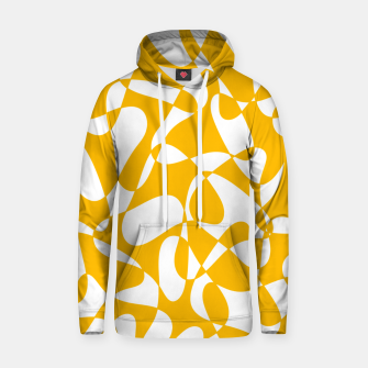 Abstract pattern - orange and white. Hoodie thumbnail image