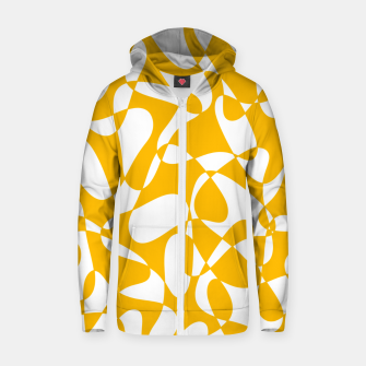 Thumbnail image of Abstract pattern - orange and white. Zip up hoodie, Live Heroes