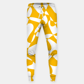 Abstract pattern - orange and white. Sweatpants thumbnail image