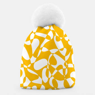 Abstract pattern - orange and white. Beanie thumbnail image