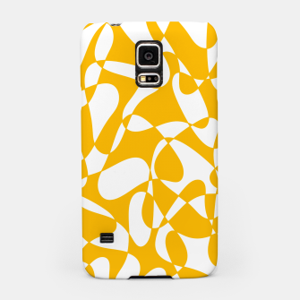 Abstract pattern - orange and white. Samsung Case thumbnail image