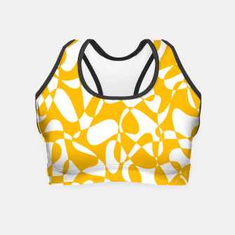 Abstract pattern - orange and white. Crop Top thumbnail image
