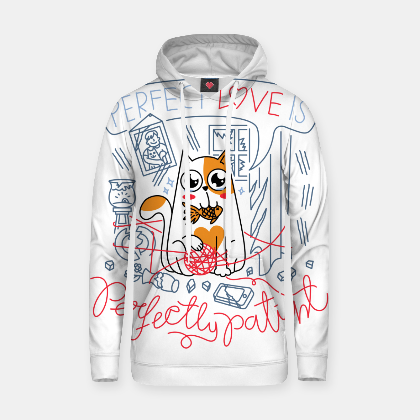 Image de Perfect Love is Perfectly Patient Hoodie - Live Heroes