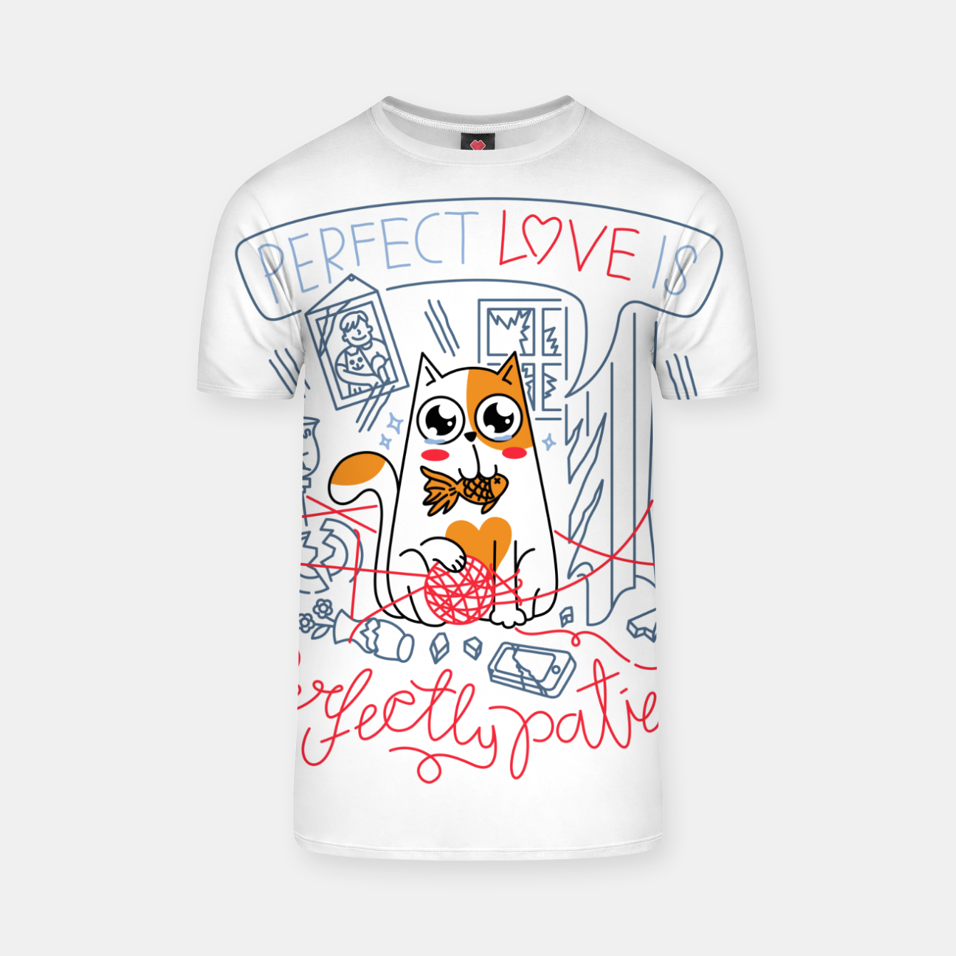 Image de Perfect Love is Perfectly Patient T-shirt - Live Heroes