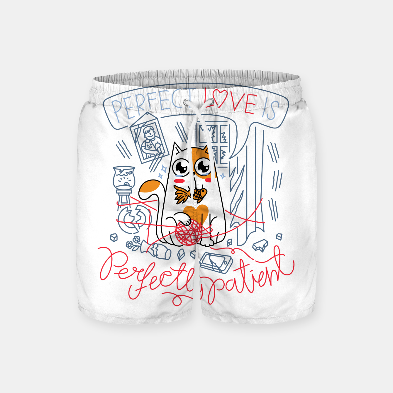 Image de Perfect Love is Perfectly Patient Swim Shorts - Live Heroes