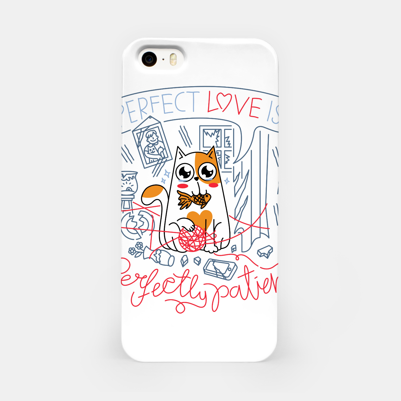 Foto Perfect Love is Perfectly Patient iPhone Case - Live Heroes