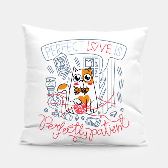Perfect Love is Perfectly Patient Pillow Bild der Miniatur