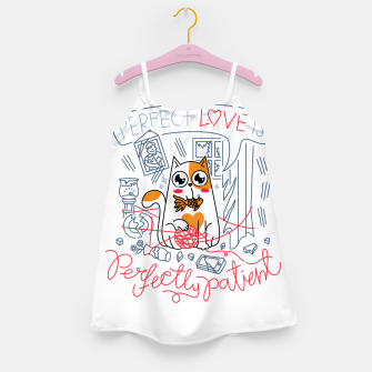 Perfect Love is Perfectly Patient Girl's dress Bild der Miniatur