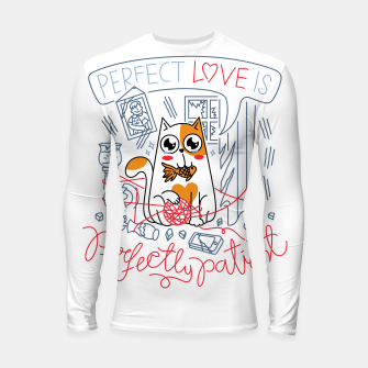 Thumbnail image of Perfect Love is Perfectly Patient Longsleeve rashguard , Live Heroes