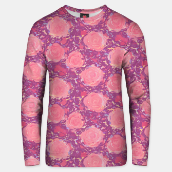 Miniatur Roses in pearly purple light Unisex sweater, Live Heroes