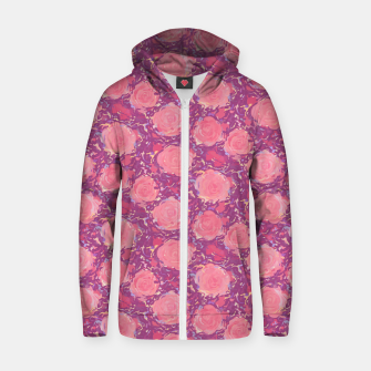Thumbnail image of Roses in pearly purple light Zip up hoodie, Live Heroes