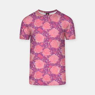 Thumbnail image of Roses in pearly purple light T-shirt, Live Heroes