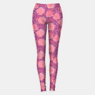 Thumbnail image of Roses in pearly purple light Leggings, Live Heroes
