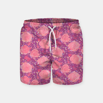 Miniatur Roses in pearly purple light Swim Shorts, Live Heroes