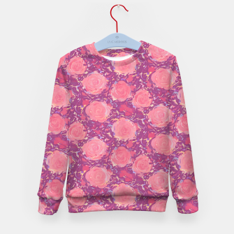 Miniatur Roses in pearly purple light Kid's sweater, Live Heroes